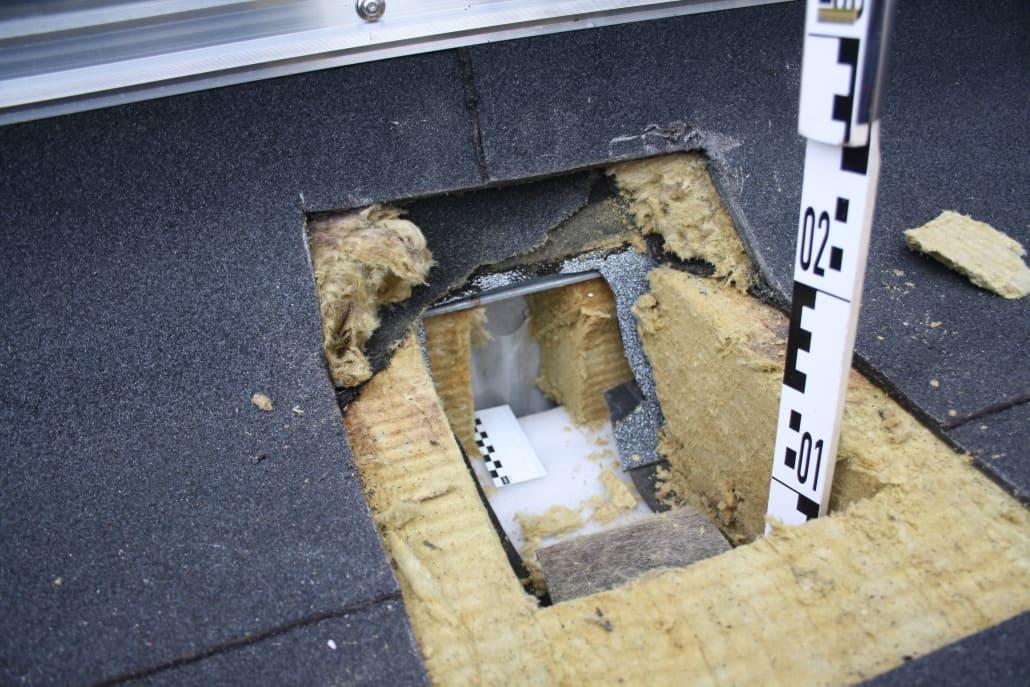 Bauteilöffnung - Sachverständiger für Flachdächer und Dächer mit Abdichtungen - Gutachter