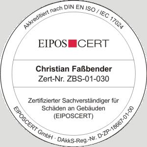 Zertifizierter Sachverständiger für Schäden an Gebäuden (EIPOSCERT)