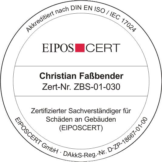 Christian Faßbender - Zertifizierter Sachverständiger für Schäden an Gebäuden (EIPOSCERT)